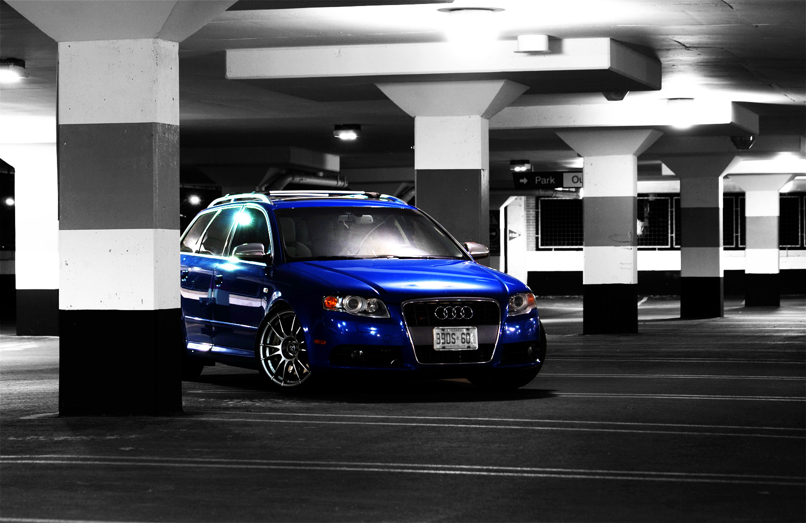 Sprint Blue B7 S4 Avant Photoshoot Parking Garage Audi